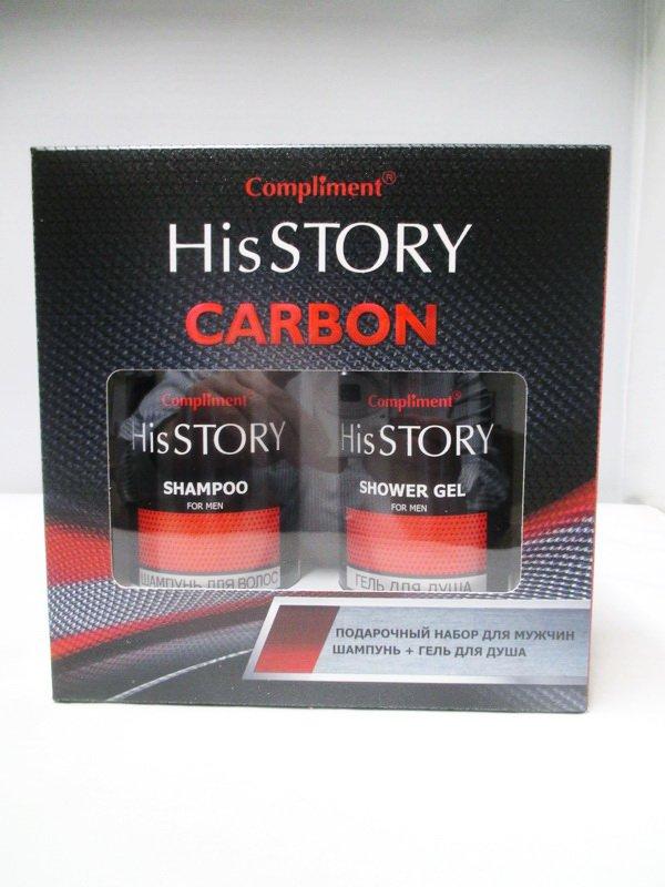 18f28878d4f5 Набор подарочный Compliment His Story №1430 Carbon (Шампунь 320 мл+гель для  душа 320 мл.) муж до 05.2021